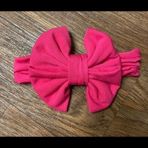 Hot Pink Messy Bow Headwrap